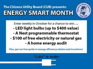 Answer one question and you could win a prize during Energy Smart Month.
