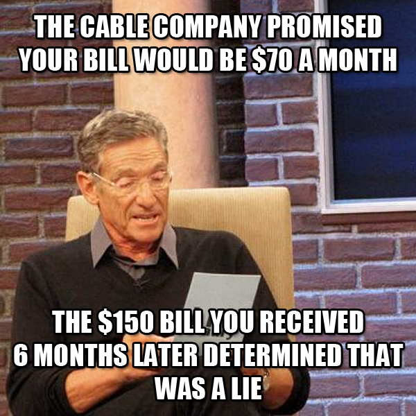 Paid TV fails the lie detector test