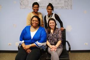 CUB's consumer advocacy team: Front row: Annette Evans, Carla Colamonici Second Row: Sandra Marcelin-Reme and Danielle Holmes
