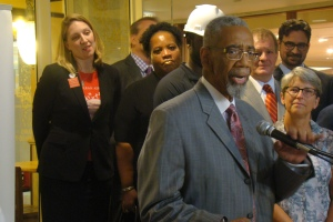 """""""This is a coalition that won't be stopped,"""" Rep. Bobby Rush said of the Illinois Clean Jobs Coalition."""
